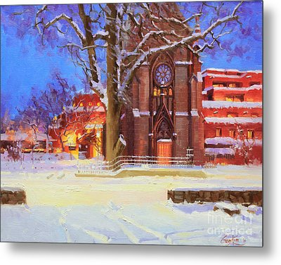 Winter Lorreto Chapel Metal Print by Gary Kim