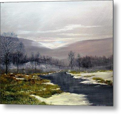Winter Marsh Metal Print by Ken Ahlering