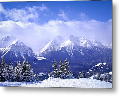 Winter Mountains Metal Print by Elena Elisseeva