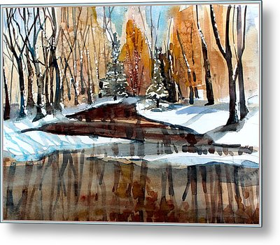 Winter Reflections Metal Print by Mindy Newman