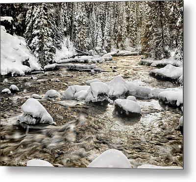 Winter River Metal Print by Leland D Howard