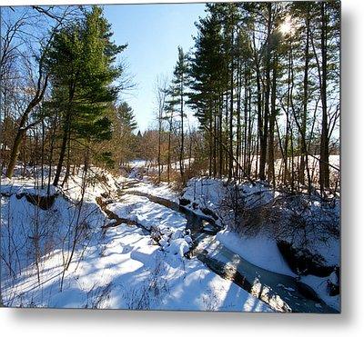 Winter Stream  Metal Print by Tim Fitzwater