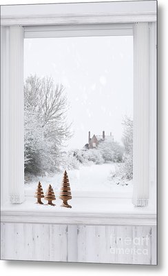 Winter Window Metal Print by Amanda And Christopher Elwell