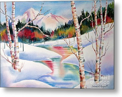 Winter's Light Metal Print by Deborah Ronglien