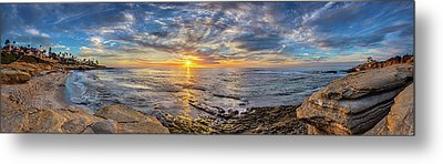 Wipeout Beach Metal Print by Peter Tellone