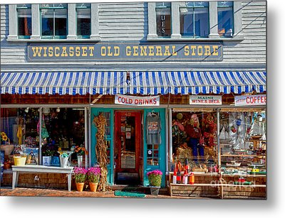 Wiscasset General Metal Print by Susan Cole Kelly