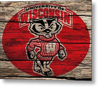 Wisconsin Badgers Barn Door Metal Print by Dan Sproul
