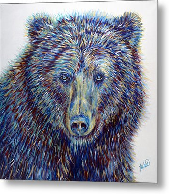 Wise Eyes Metal Print by Teshia Art