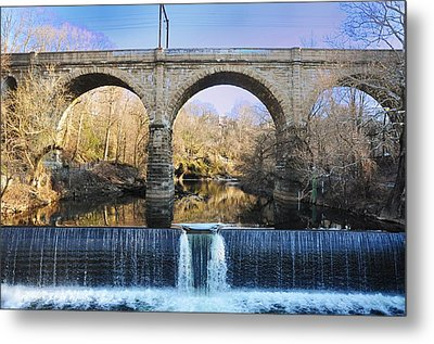 Wissahickon Viaduct Metal Print by Bill Cannon