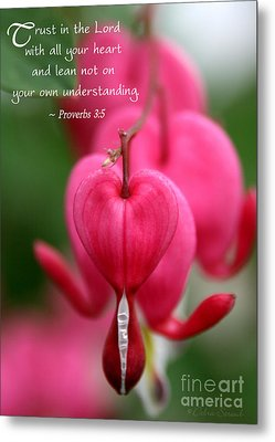 With All Your Heart Metal Print by Debra Straub