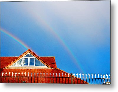 With Double Bless Of Rainbow Metal Print by Jenny Rainbow