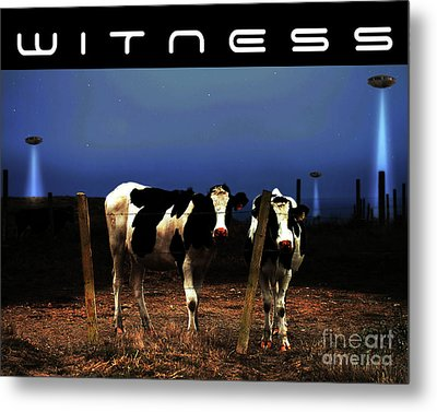 Witness . The Arrival . With Text Metal Print by Wingsdomain Art and Photography