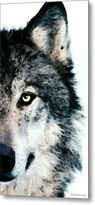 Wolf Art - Timber Metal Print by Sharon Cummings