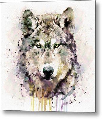 Wolf Head Metal Print by Marian Voicu
