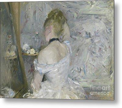 Woman At Her Toilette Metal Print by Berthe Morisot
