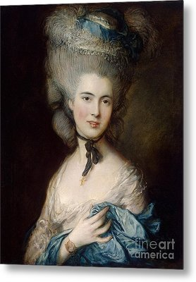 Woman In Blue The Duchess Of Beaufort Metal Print by MotionAge Designs