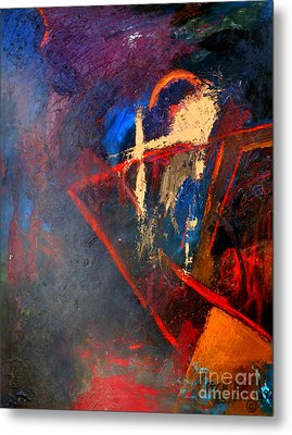 Woman Palette Knife Painting Metal Print by Genevieve Esson