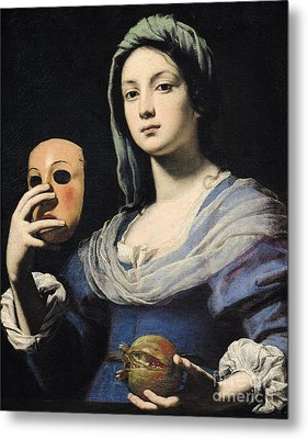 Woman With A Mask Metal Print by Lorenzo Lippi