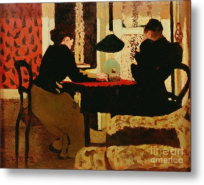 Women By Lamplight Metal Print by vVuillard