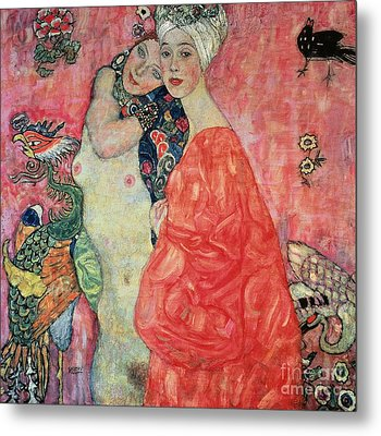 Women Friends Metal Print by Gustav Klimt