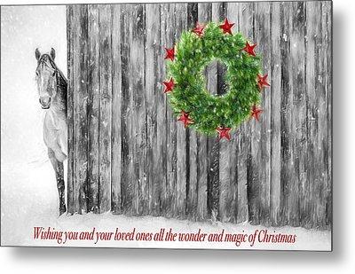 Wonder And Magic Of Christmas Metal Print by Shara Lee