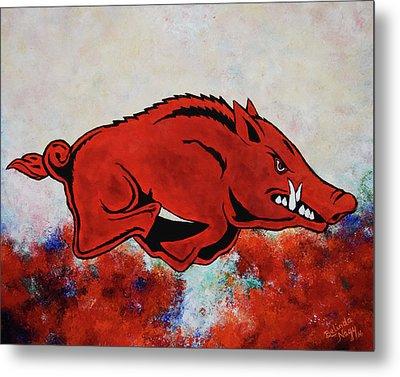 Woo Pig Sooie Metal Print by Belinda Nagy