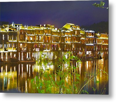 Wooden Houses 1 Metal Print by Lanjee Chee