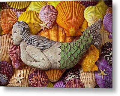 Wooden Mermaid Metal Print by Garry Gay