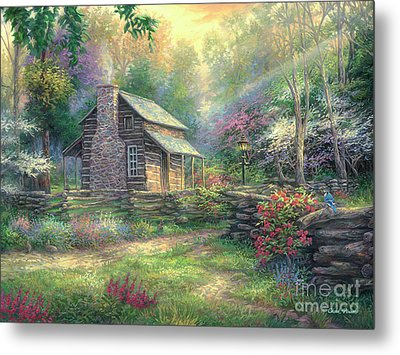 Woodland Oasis Metal Print by Chuck Pinson