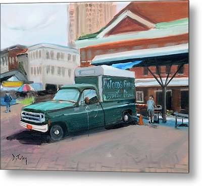 Woods Farms At Historic Roanoke City Market Metal Print by Donna Tuten