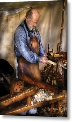Woodworker - The Carpenter Metal Print by Mike Savad
