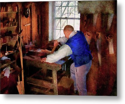 Woodworker - The Master Carpenter Metal Print by Mike Savad