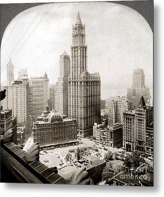Woolworth Building, 1920s Metal Print by Granger