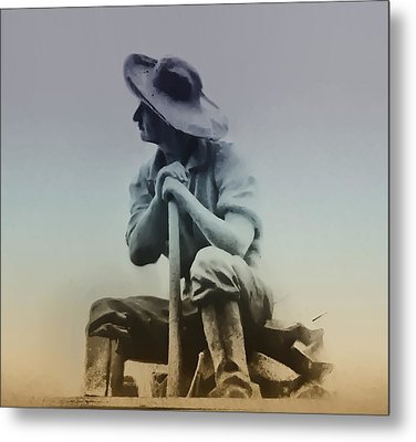 Working Man Metal Print by Bill Cannon