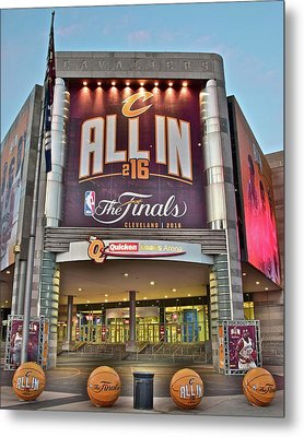 World Champion Cleveland Cavaliers Metal Print by Frozen in Time Fine Art Photography