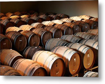 World-class Wine Is Made In California Metal Print by Christine Till