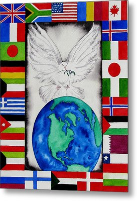 World Peace Metal Print by Maria Barry