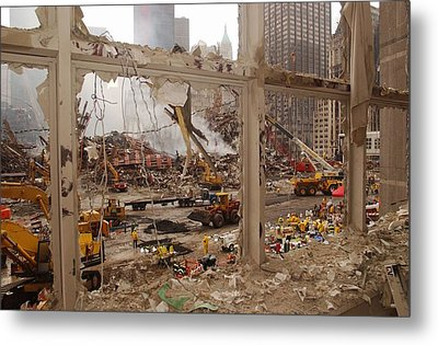World Trade Center Recovery Operations Metal Print by Everett