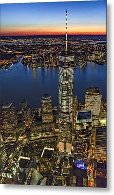 World Trade Center Wtc From High Above Metal Print by Susan Candelario