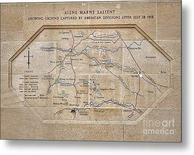 World War I Marne Battle Map  Metal Print by Olivier Le Queinec