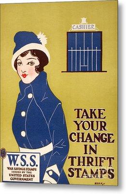 World War I: Thrift Stamps Metal Print by Granger
