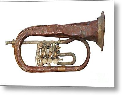 Wrinkled Old Trumpet Metal Print by Michal Boubin