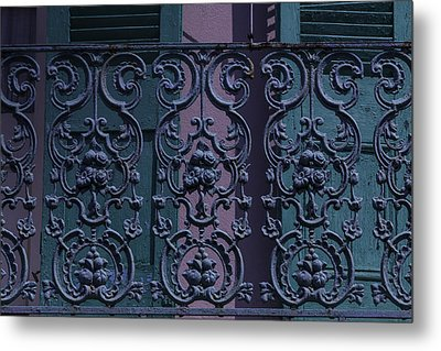 Wrought Iron Railings Metal Print by Garry Gay