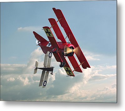 Ww1 - Combat - One On One Metal Print by Pat Speirs