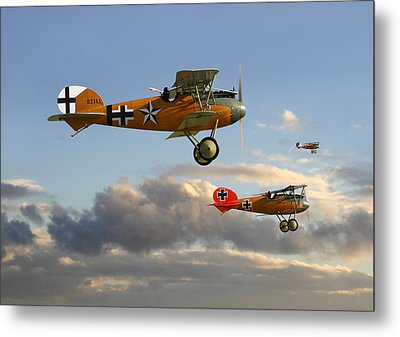 Ww1 - Fighting Colours 3 Metal Print by Pat Speirs
