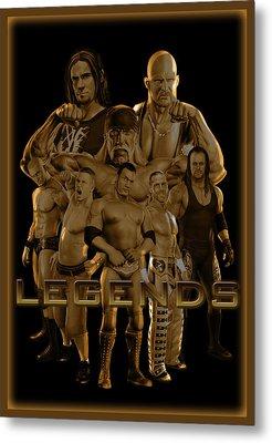 Wwe Legends By Gbs Metal Print by Anibal Diaz