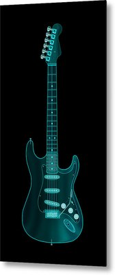 X-ray Electric Guitar Metal Print by Michael Tompsett