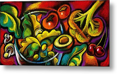 Yammy Salad Metal Print by Leon Zernitsky
