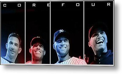 Yankee Core Four By Gbs Metal Print by Anibal Diaz