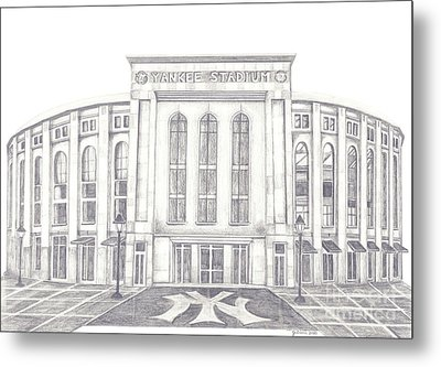 Yankee Stadium Metal Print by Juliana Dube